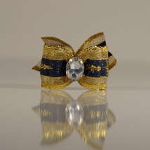 1 Bow Royalblue and gold
