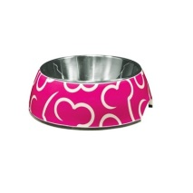 BOWL PINK STAINLESS