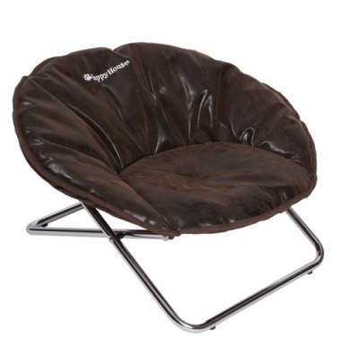 Dog Chair soft Art Leather - Brown