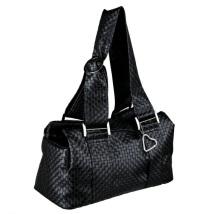 Black art leather bag
