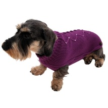 Purple wool sweater w crystals