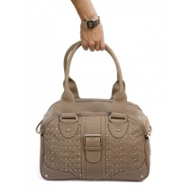 Leather Bag Miami Chic - Taupe