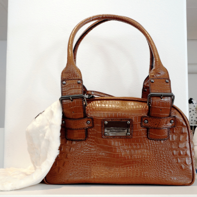 Leather Bag London Chic - Cognac
