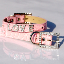 Croco Collar for Letters - Pink (Letters not incl.)