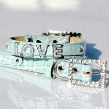 Croco Collar for Letters - Ice Blue (Letters not incl.)