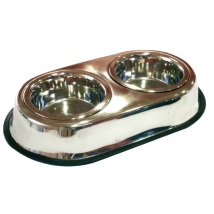 Bowl Double Stainless Steel