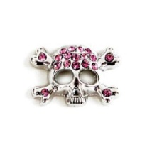 Charm Skull - Pink