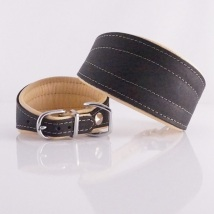 Greyhound Collar Black/Natur