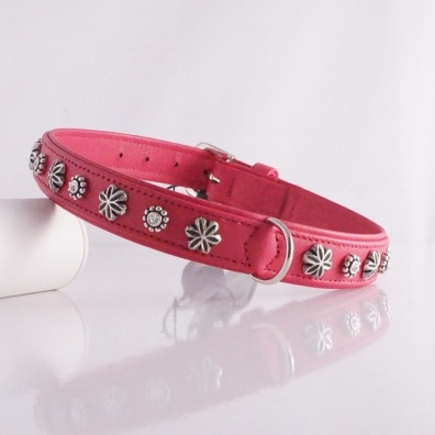 Collar Chrystal Flower Pink Nappa