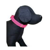 GLOSSY COLLAR IN PINK- ADJUSTABLE