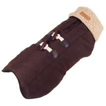 DUFFEL FLEECE COAT BROWN