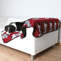Dog Blanket Dalmatin Bordeaux