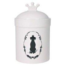 Food/Snack Jar Porcelain - White