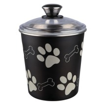 Food/Snack Jar Steinless steel - Black With Paws