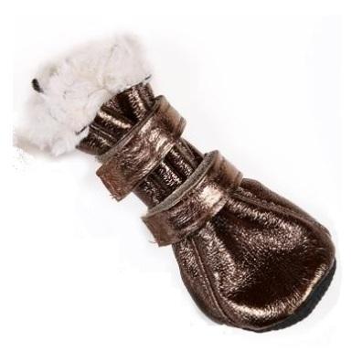 Boots w soft fur inside - Bronze (5) 4 Pcs