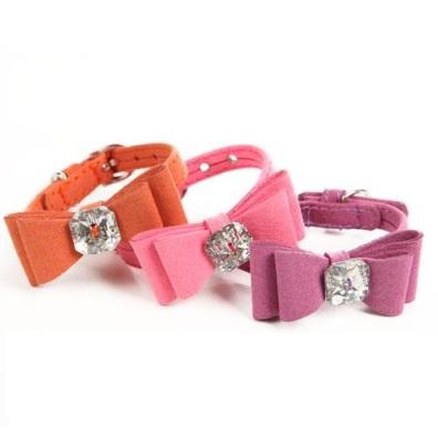 Collar/Leash set w Bow - Purple