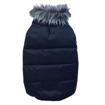 PUG - Black jacket with fur