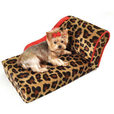 Leopard Sofa w red Trim