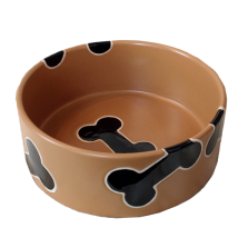 Bowl Camel w black bones Handpainted