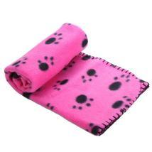 Light dog fleece blanket - pink