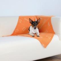 Blanket w bones - Orange