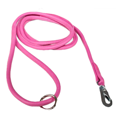 Soft Leather Leash Cerise BGB hook