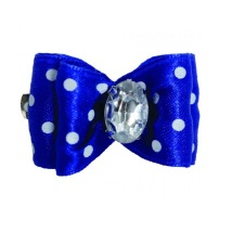 1 Bow Blue w. White dots