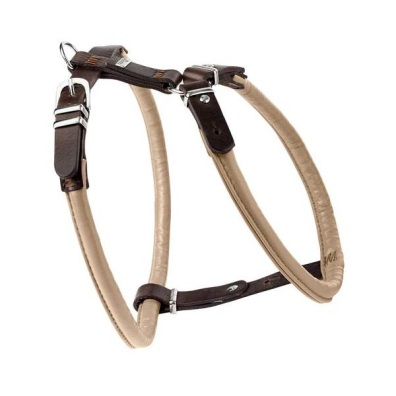 Harness Elk Leather Beige/Brown
