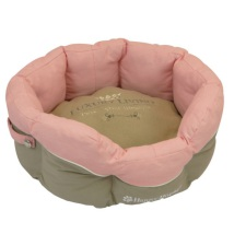 Round canvas Basket Pink