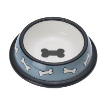 City Plastic Bowl - Blue w Bones