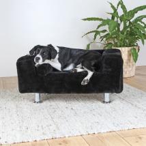 Dog Sofa Black Velvet