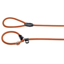 Retriever Leash Nylon w. leather details Free Size - Orange