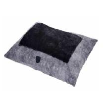 Velvet Black/Grey Pillow