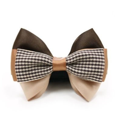 Bow to put on Collar/Harness - Brown Beige