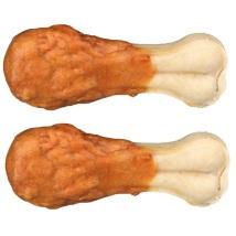 Chewing bones w. chicken