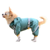 Light Reflective Raincoat 4-legged - Green