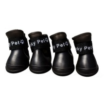 Plastic Boots Black