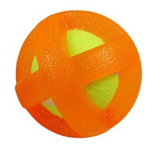 Tennis Ball w TPR rubber cover - Orange