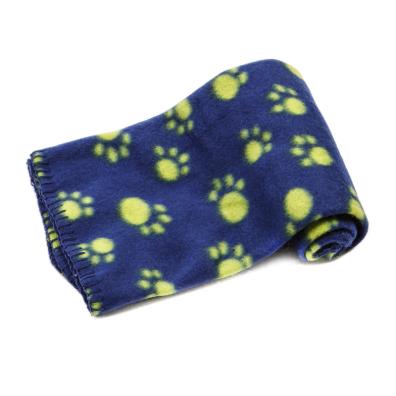 Light dog fleece blanket - blue