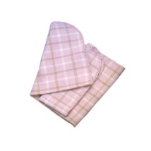 Plaid with leather straps Pink