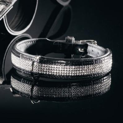 Luxury Swarovski Collar-Black and Silver