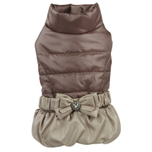 Light Elegant Fleece Coat - Brown