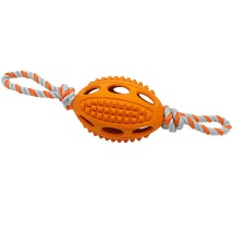Rubber Rugby w Spikes and Rope - Orange
