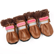 Boots w soft fur inside - Brown/Brown 4 Pcs