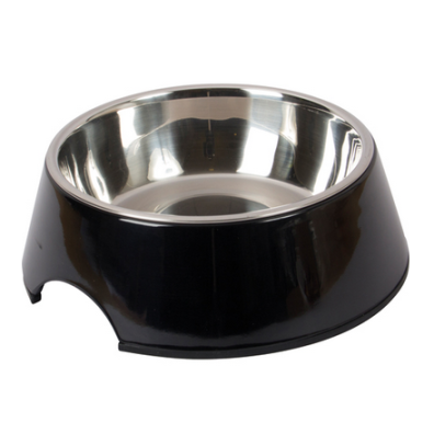 Straight Dog Bowl Melamin - Black
