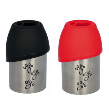 Bottle w Lid Water Bowl Various colours Black/Red - 300ml