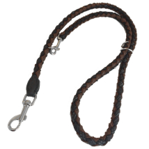 Round Braided Leash W:16mm L:160cm - Black/Brown