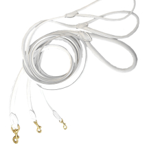 Round Leash w Brass Buckle - White