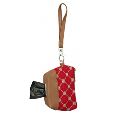 Poobag Holder Red/Beige