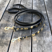Genuine Alp Leash w Brass Buckle - Black